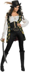 Pirates of the Caribbean - Women's Costume: Pirates' Angelica Deluxe- Medium