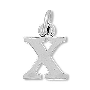 925 Sterling Silver Greek Alphabet Letter - Chi