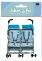 Jolees By You Stickers, Double Stroller - 1