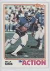 Billy Sims Detroit Lions (Football Card) 1982 Topps #350