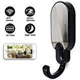 Daretang 1080p Super Hidden Night Vision Wifi Spy Clothes Hook Camera,12Mp Nanny Cam Home Security Convert,Black Color (Color: black)