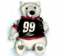 Coca Cola Bean Bag Plush NASCAR Driver Jeff Burton #99 - 1