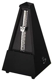 Wittner Taktell - Pyramid Metronome Without Bell - Wooden Casing - Oak - Matte Black