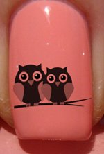Owl couple Nail Decals by YRNails images