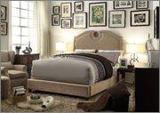 Millbury Home Eilo Mocha Queen Upholstered Platform Bed