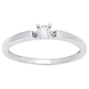 So Chic Jewels - Ladies 9k White Gold 0.02 ct Diamond Solitaire Engagement Ring