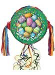 Happy Easter Eggs Pull String Pinata
