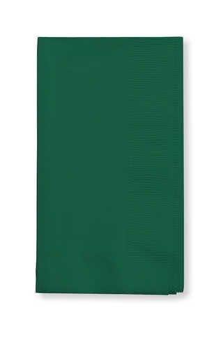 Hunter Green Dinner Napkin, 3 Ply, 1/4 Fold Solid (10pks Case)