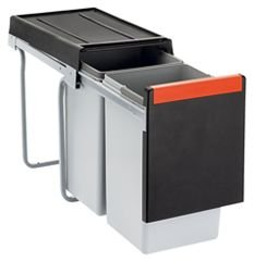 Franke Cube 30 2-Way Manual Pull-Out Waste / rubbish bin, 2 x 15 Litre by Franke Kitchen Systems