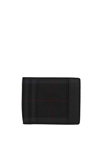 Portafogli Burberry Uomo Tessuto Nero 3945555 Nero 9.5x11 cmEU