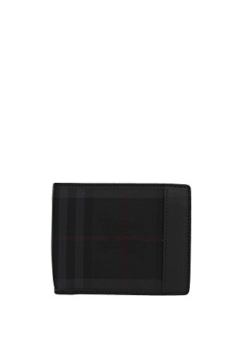 Portafogli Burberry Uomo Tessuto Nero 3945555 Nero 9.5x11 cm