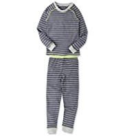 Striped Thermal Top & Pants Set