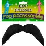 Henbrandt Black YMCA Style Moustache