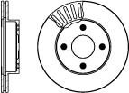 Nissan Micra 1.0L Jan/1993>Dec/2002 Front Brake Discs