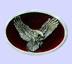 Oval Eagle Belt Buckle - Red