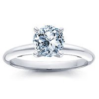 0.53 Carat D/VS1 Round Certified Diamond Solitaire Engagement Ring in 18ct Solid White Gold