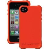 Ballistic LS0864-N435 LS Smooth Case for iPhone 4/4S - 1 Pack - Retail Packaging - Orange