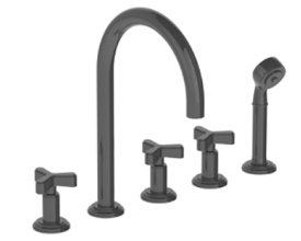 watermark roman tub set w diverter and hand shower w norwood handles