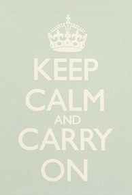 """Keep Calm and Carry On Seagreen Poster Print WWII Vintage Art Reproduction 23.4"""" x 16.5"""""""