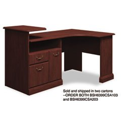 -- Expandable Corner Desk Solution (B/F/D) Box 1 of 2 Syndicate Harvest Cherry