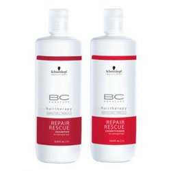 Schwarzkopf Bonacure Repair Rescue Shampoo and Conditioner Liter Duo Set (33.8 Oz)