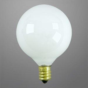 40 WATT DECORATIVE GLOBE VANITY LONG LIFE LIGHT BULB G16.5 WHITE - Incandescent Bulbs - Amazon.com