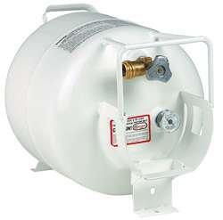 RV LP Propane Gas Tank 7 gallon/#30 ACME/OPD horizontal with gauge, white