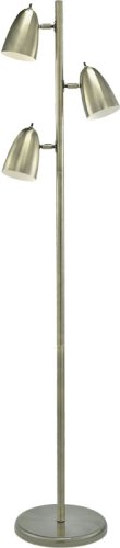 "Classic Bullet Collection Antique Brass Finish 3-Lite 63""H Floor Lamp"