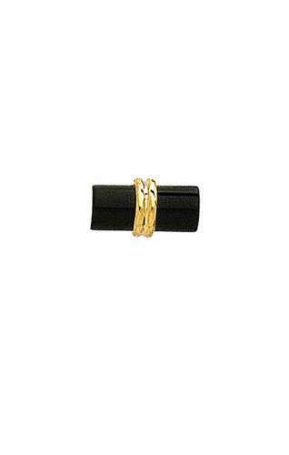 14K Yellow Gold Black Onyx Cylinder Tie Tac-89753