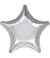 "Anagram International Star Foil Flat Balloon, 32"", Silver"