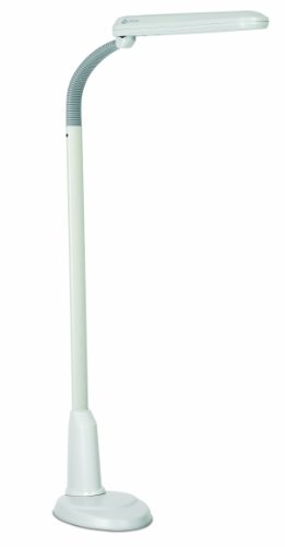 OttLite L24554 Task Plus High-Definition 24-Watt Floor Lamp, Dove Grey (Ottlite Bulbs 24w compare prices)