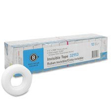 Invisible Tape, 1 Core, 3/4×1000, 12/PK, Clear (BSN32953)