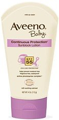 Aveeno Baby Sunblock Lotion, SPF-55, 4-Ounce Tube
