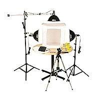 "Smith Victor KLB-3, Three Light 1500 Total watt Photoflood Light Box Kit with 28"" Shooting Tent."
