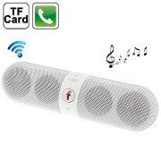 Multi-function Bluetooth Speaker With FM Radio, Support TF Card / Handsfree, B6(White)