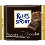 Ritter Sport: Dark Chocolate with Chocolate Mousse (3 - 3.5oz Bars)