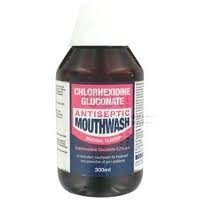 Chlorhexidine gluconate antiseptic mouthwash 300ml