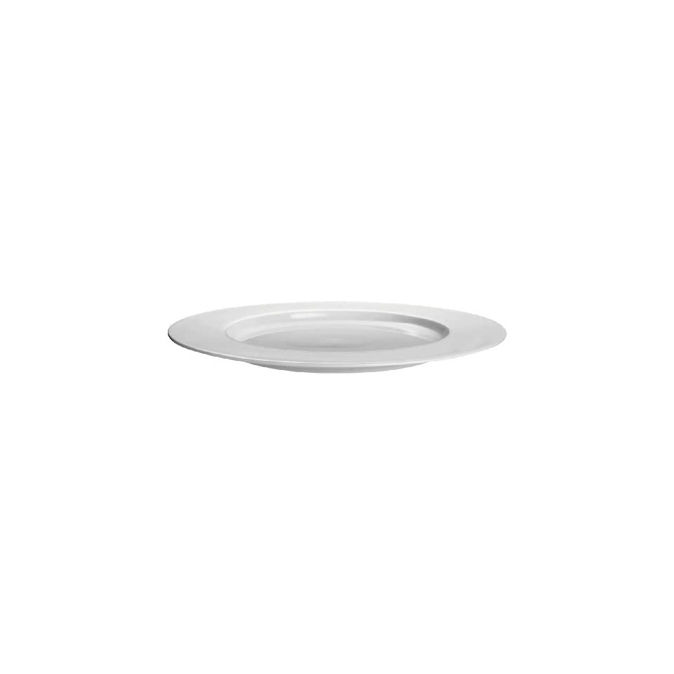 ASA Selection A Table 9 1/4 Inch White Bone China Rimmed Salad/Dessert Plate, Set of 4