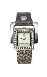 BCBGMAXAZRIA Arabesque Leather Strap Mother-of-pearl Dial Women's watch #BG6272
