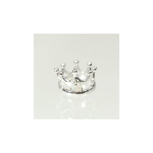 [キュートジュエリー]Cute jewerly 10月の誕生石 K18WG オパール ベビーリング プリンスタイプ クマちゃんの宅急便(ピンク)