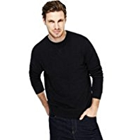 Crew Neck Plain Sweatshirt