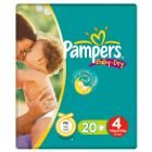 Pampers Baby Dry Size 4 (Maxi) Small Pack - 20 Nappies