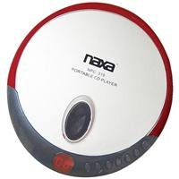 Naxa Npc-319 Slim Personal Compact Disc Player With Stereo Earphones, Cd & Cd-R Compatible, 2 Way Power, Programmable Track Memory, Lcd Display, Red