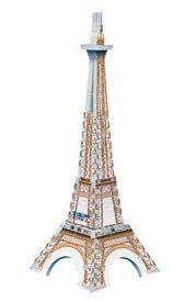 Eiffel Tower, 43 Piece Mini 3D Jigsaw Puzzle Made by Wrebbit Puzz-3D