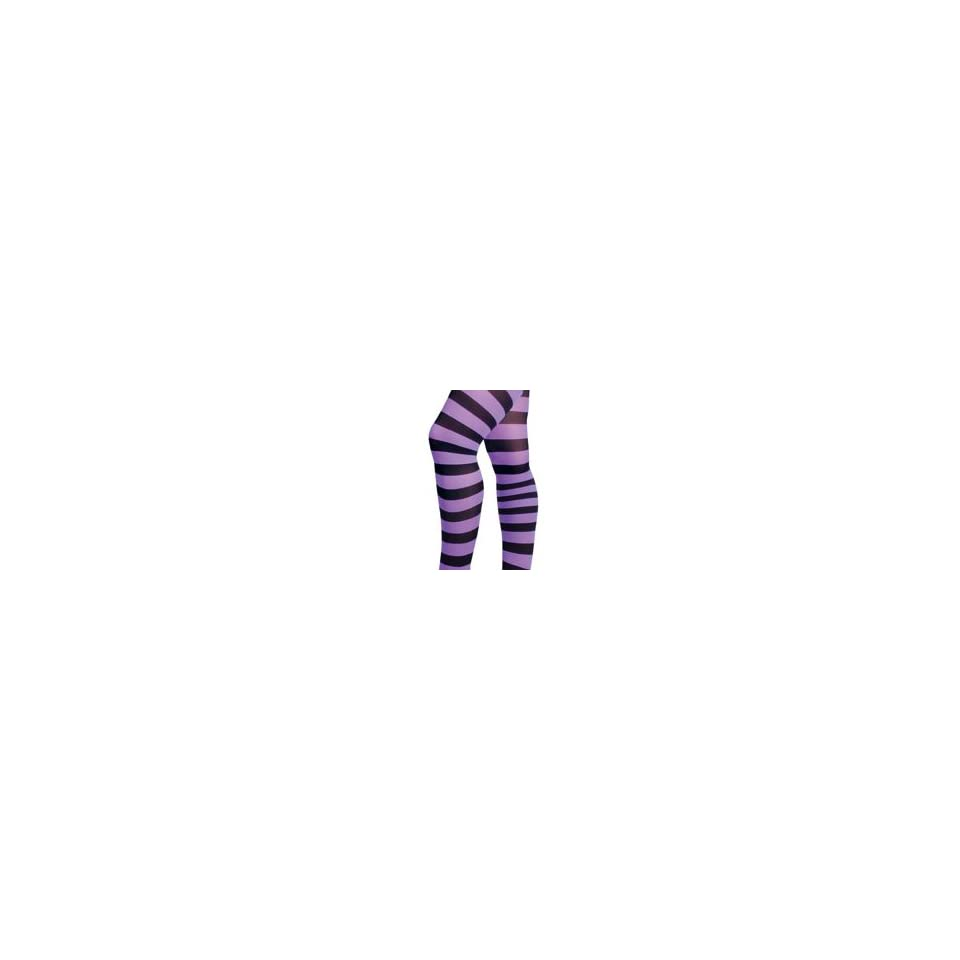 75f53a01756ea Black & Purple Wide Stripe Gothic Tights by Music Legs on PopScreen