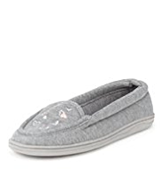M&S Collection Secret Support™ Heart Moccasin Slippers