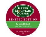 NEW! 12 Green Mountain Gingerbread Seasonal K-cups! Limited Edition! YUMMY!
