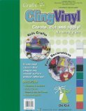 Grafix Cling Vinyl 9-Inch-by-12-Inch 9-Pack, Assorted Colors