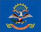 Fridge Magnet USA North Dakota State Flag 7cm x 4.5cm