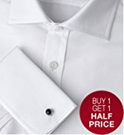 2in Longer Sartorial Pure Cotton Weave Shirt